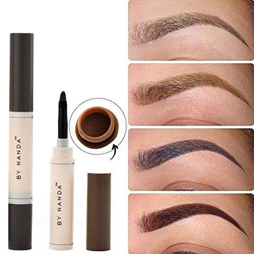 Lápiz de cejas de color marrón, de larga duración, resistente al agua, para pintura, juego de maquillaje de cejas Henna