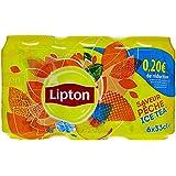 Lipton Ice Tea Pêche Pack de 6 Canettes de 33 cl