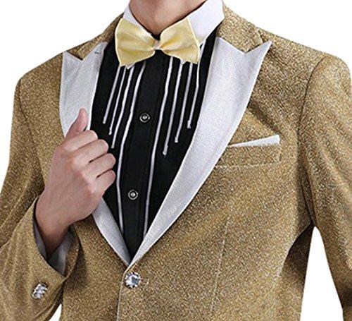 Judi Dench@ Giacche da uomo Tuxedo partito di promenade menswear giacca lucida Blazer matrimonio golden