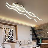 LED Deckenleuchte Wohnzimmerleuchte Moderne Designer-Lampe Kreativ Metall Acryl Wellen Romantisch und warm Decke Leuchte Deckenlampe Innenraumlampe Beleuchtung Schlafzimmer Küche Bar 55W