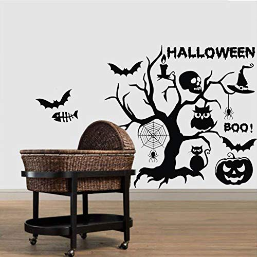Happy Halloween Cartoon Wandaufkleber Fenster Dekoration Aufkleber Baum Kürbis Aufkleber Home Room Festival Aufkleber