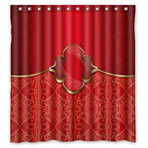 Elegance Red Shower Curtain 66 X72 Inches New