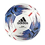 ADIDAS Team Competition Fußball, White/Blue/Black/Solar Red, 5