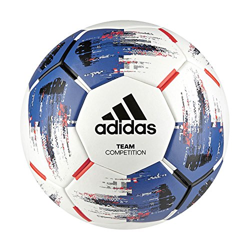adidas Team Competition Fußball, White/Blue/Black/Solar Red, 4