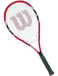 Salomon Wilson Raqueta de Tenis Unisex, para Juegos en Todas Las áreas, para Jugadores Aficionados, Federer, Medida 3, Rojo/Blanco/Negro