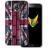 dessana England transparente Silikon TPU Schutzhülle 0,7mm dünne Handy Soft Case für Samsung Galaxy S5/Neo England Flagge