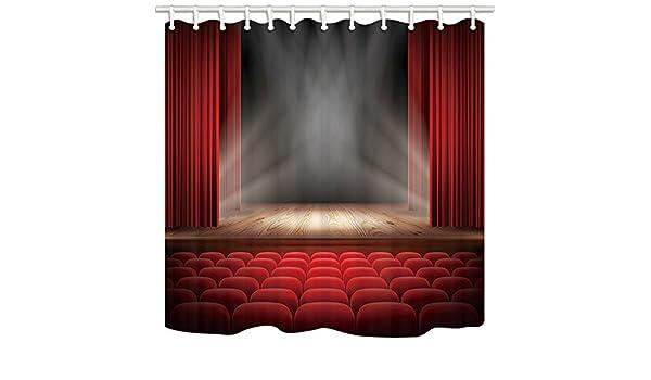 Tende Da Doccia Personalizzate : Kotom tende da doccia decoro per palcoscenico tende rosse sul