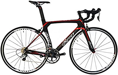BEIOU® 2016 700C carretera Shimano 105 bicicletas con un cuadro 11S 5800 Bicicleta de carreras T800-M40 fibra de carbono Aero 18.3lbs ultraligeros CB013A-2