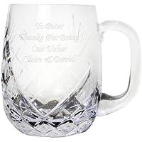 Personalizable cristal de alta calidad Ronda de pinta jarra por la tienda de regalos (tmgs mágica)