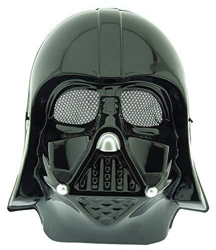 Maschera per Costume Travestimento Carnevale Halloween Guerriero Nero Darth Vader Star Wars Colore Nero Bambino Idea regalo per natale e compleanno
