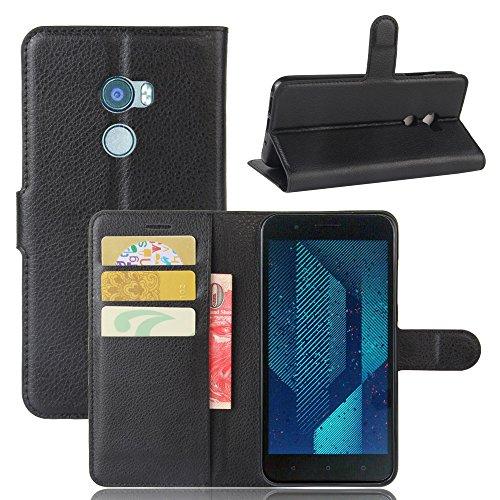Kihying Hülle für HTC ONE X10 Hülle Schutzhülle PU Leder Flip Wallet Fashion Geschäft HandyHülle (Schwarz - JFC02)