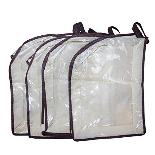 Bolsas para zapatos - Pack 4 Belle Vous Bolsas Transparentes de Material No Tejido e Impermeable para Viajar, Ahorrar Espacio, Guardar debajo de la Cama y Suministros de Gimnasio - Guarde Botas, Taco
