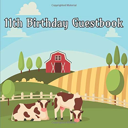 ook: Farm Animals Birthday Party Guest Book Party Celebration Log for Signing and Leaving Special Messages ()
