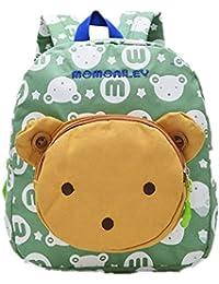 Children Backpack Travel Rucksack Kids School Bag Cute Bear Shoulder Book Bag (Green)