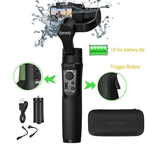 Hohem iSteady Pro 2 3 Achsen Splash Proof Handheld Gimbal Stabilisator Action Kameras Gimbal kompatibel mit DJI Osmo Action,GoPro 2018 7/6/5/4/3, RX0, AEE, SJCAM, YI-CAM, Zeitraffer, 12 Stunden -