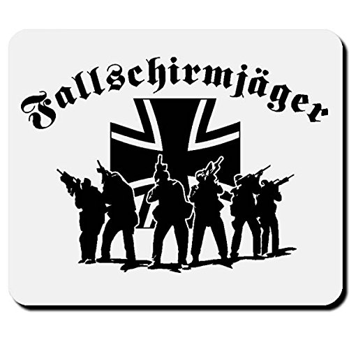 Fallschirmjäger Elite Einheit Falli Grüner Teufel Bundeswehr BW Kreuz Soldaten - Mauspad Mousepad #2625
