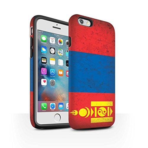 STUFF4 Matte Harten Stoßfest Hülle / Case für Apple iPhone 6 / Georgien/Georgisch Muster / Asien Flagge Kollektion Mongolei/Mongolisch