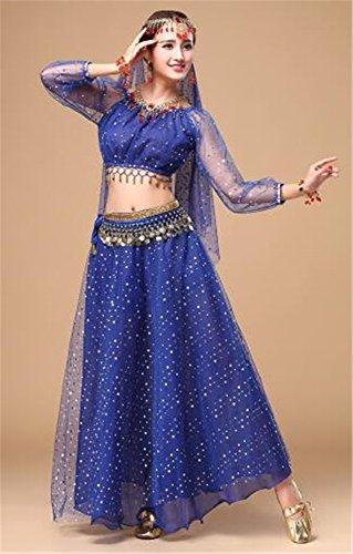 (peiwen Frauen ist Indien Tanz, Trachten Anzug/Stadium Dance Show Kleidung/glänzende Bauchtanz shkirt Anzug)
