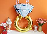 PuTwo Luftballons für Hochzeit 2 Diamantring Folienballon Helium Luftballons für Hochzeitsdeko - Diamantring