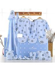 SHISHANG Set de 22 piezas Baby Gift Box Bebé puro algodón Suit Box Chico Chico Adecuado para 0-12 meses Caja de regalo para recién nacidos Pure Cotton (100%) Four Seasons Gift Package , 1 , 16