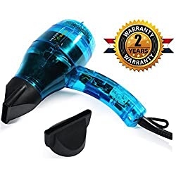 Professional Ionic Hair Dryer Handcrafted in France for Europes Top Salons, Dual Ion Generator Function Builds Shine & Volume 1600w, Featherweight