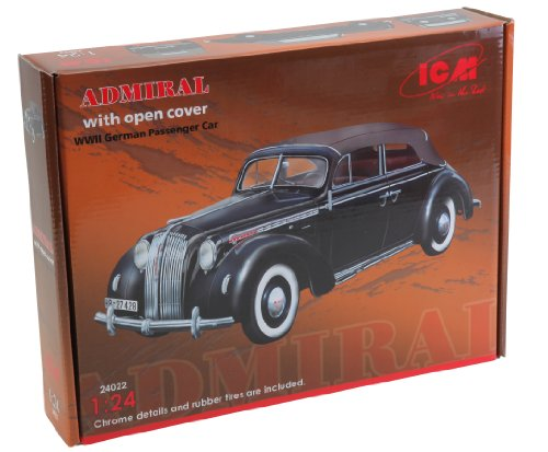 ICM 24022-1/24 Opel Admiral Cabriolet, Ouvert