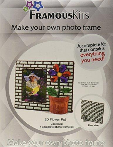 framous Kits Kit pour pot de fleurs en plastique framous Toile 3D, 15 x 17,8 cm,