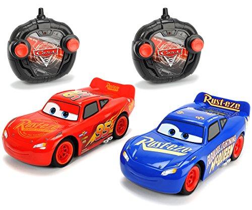 "Dickie Toys 203087008 - \""Cars 3 Turbo Racer Lightning McQueen + Fabulous LMQ\"", RC Fahrzeug Set, ferngesteuerte Autos, 1:24, 17cm"