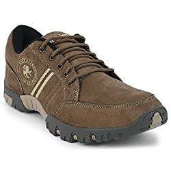 Action Shoes Beige Mens Synthetic Casual Shoes (A-364)-8 UK