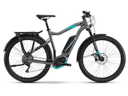 Haibike Sduro Trekking 7.5Hombre E-Bike 500WH S de bicicleta de trekking Titan/Cian/Negro,...