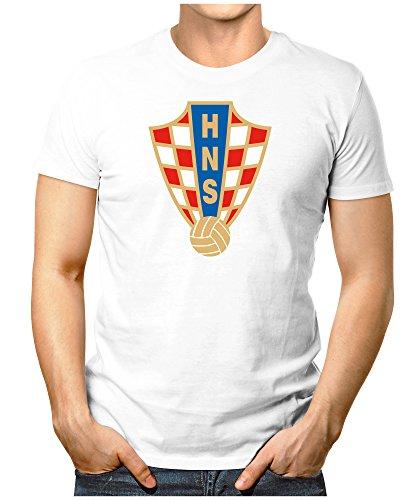 Prilano Herren Fun T-Shirt - Kroatien-WM - 4XL - Weiß (Jones Weißes Trikot)