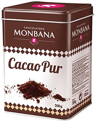 Monbana 100% poudre de cacao 200g Boîte, 1er Pack (1x 200g)