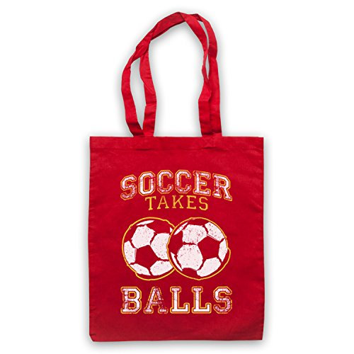Soccer Takes Balls Funny Football Slogan Umhangetaschen Rot