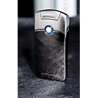Primo Electric Arc Lighter, Electronic USB Rechargable Windproof Flameless Plasma Coil Cigar Lighter Christmas Men's Gift