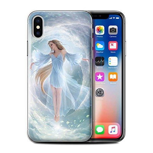 Offiziell Elena Dudina Hülle / Case für Apple iPhone X/10 / Gefallen Muster / Fantasie Engel Kollektion Air-Kleid