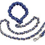 beautylife77Pet Dog Training Leine Hundegeschirr Seil Kette verlängert Puppy Leine, Nylon, blau, Einheitsgröße