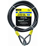 Sterling 124C - Cable de seguridad de bucle doble autoenroscable (recubrimiento de vinilo, 12 mm x 4,5 m)