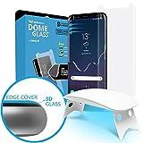 Dome Glass Galaxy S8 Ecran Film Protecteur Verre Trempé, Couverture Complète 3D Courbé Facile Installation Trousse Haut Définition Anti-Empreintes Digitales par Whitestone pour Samsung Galaxy S8