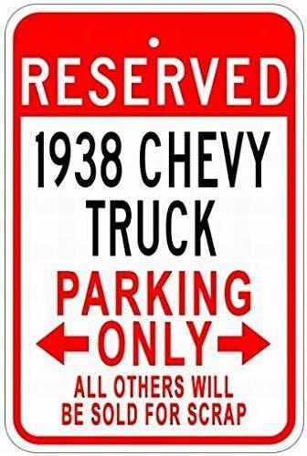WallAdorn 1938 38 Chevy Truck Parking s Eisen Poster Malerei Blechschild Vintage Wall Decor für Cafe Bar Pub Home (Chevy Lichter Truck)