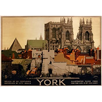 TX422 Vintage YORK The Shambles Yorkshire LNER Railway Travel Retro Poster A3//A4