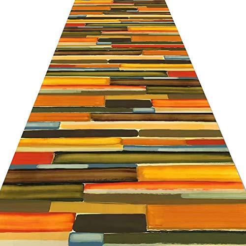 ZRUYI Tappeti Runner Tappeto Passatoia Corridoio Carpet 3D Stampa Moderno Poliestere Resistente allUsura Durevole Lavabile 2 Colori Personalizzabile