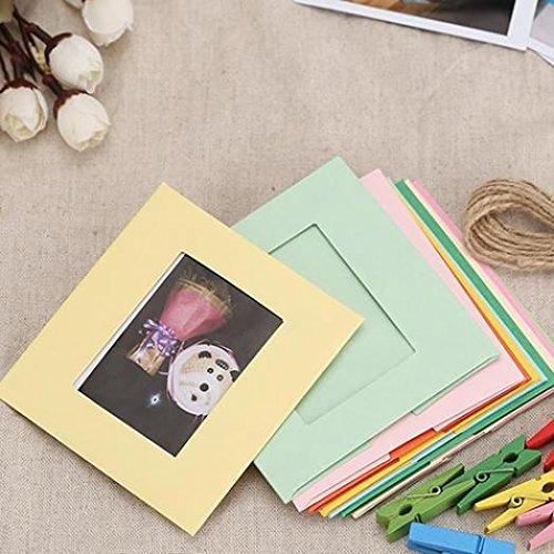hlafzimmer Wand aufhängen Album Foto Rahmen für 7,6cm Foto Bild amesii (Diy Photo Booth Frame)