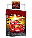 Cars Parure de lit 1 Place Housse de Couette, Microfibre, Multicolore, 200x140 cm