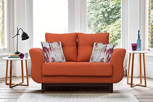 Peachtree Ibiza Orange Fabric 2 Seater Sofa