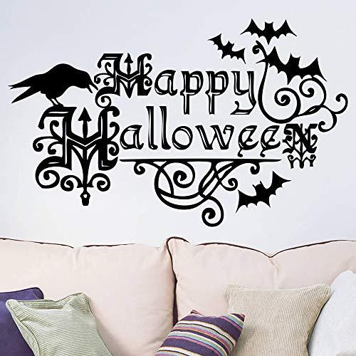 Happy Halloween Letters Wandaufkleber Fenster Home Decoration Aufkleber Wand 57X35 cm (Patrol-happy Paw Halloween)