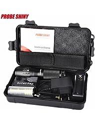 Koly 5000 lúmenes Zoomable X800 XML T6 LED Policía Táctica Linterna + 18650 Batería + Cargador + Caso