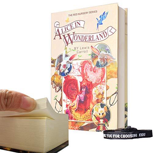 Echt Papier Zeitvertreib Buch Sicher, mit Kombination Lock Anti Diebstahl sicher Secret Box/Geld Verstecken Box/Box-Alice in Wonderland (Buch Safe-kombination)