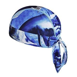 Afinder Unisex Bandana Cap Sport Kopftuch Kopfband Biker Hat Piratentuch UV Schutz Schnelltrocknend Stirnband Sport Fahrrad Radsport Motorrad Mustern Mütze