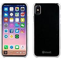 Muvit Crystal - Carcasa trasera para iPhone X, transparente