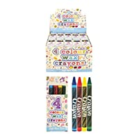HENBRANDT Mini Wax Crayon Packs - Party Favours / Loot Bag Fillers / Lucky Dip Prizes / Classroom Rewards